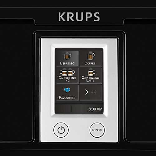 Krups-EA8808-Kaffeevollautomat-Two-in-One-Touch-Funktion-15-bar-Touchscreen-Farbdisplay-Edelstahl-Schwarz-0-9