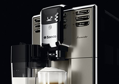 Saeco-HD891701-Incanto-Kaffeevollautomat-AquaClean-integrierte-Milchkaraffe-silber-0-4