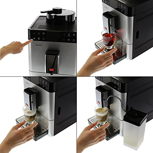 melitta f570 101 silber kaffeevollautomat caffeo varianza csp one touch funktion lcd farbdisplay. Black Bedroom Furniture Sets. Home Design Ideas